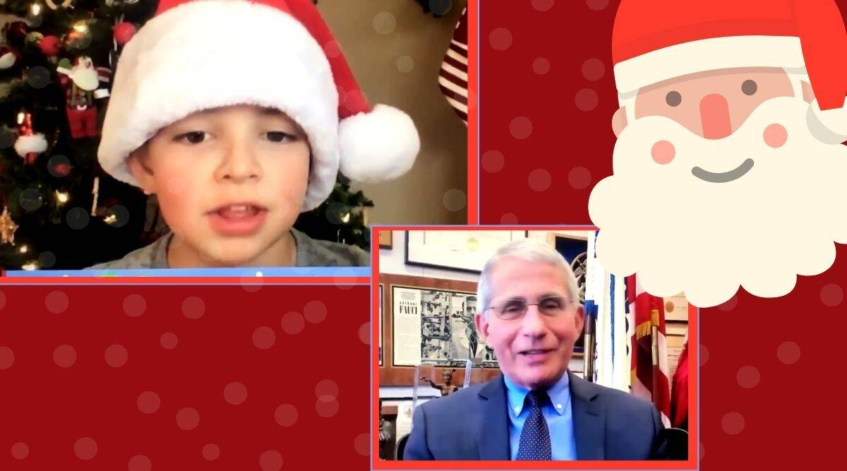 Anthony Fauci, Anthony Fauci santa claus, christmas covid-19, santa claus, pfizer, pfizer vaccine, santa is vaccinated, Anthony Fauci christmas gift, Anthony Fauci covid vaccination, trending news, indian express news