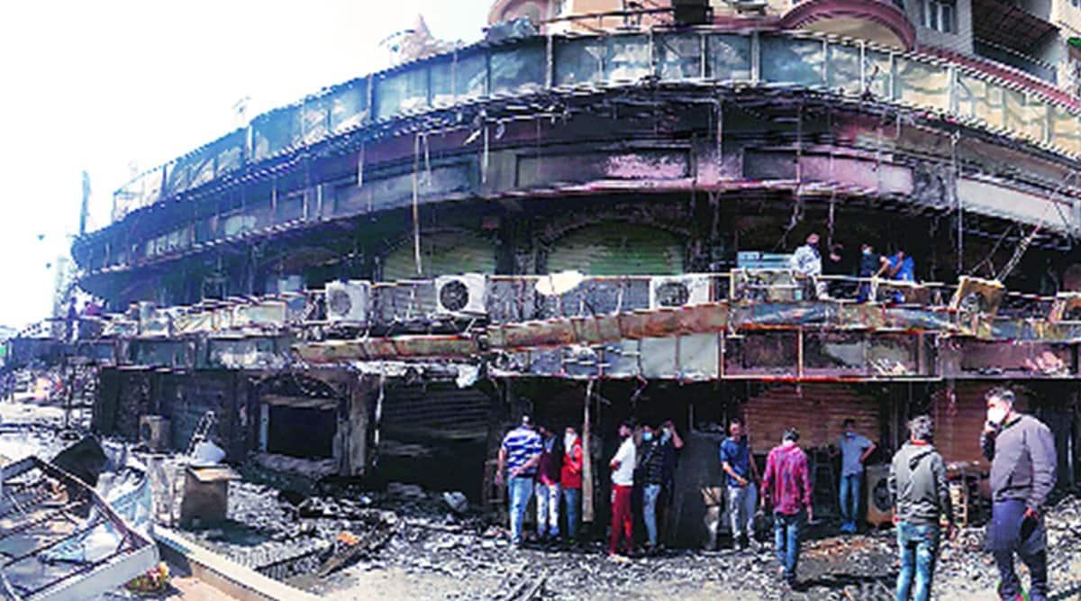 ahmedabad fire, ahmedabad mall fire, ahmedabad mall shops fire, indian express news