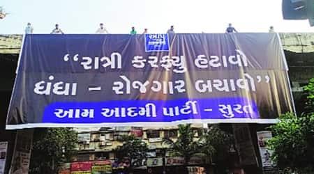 Pradeepsinh Jadeja, gujarat home minister, Godadara police station inaugration, gujarat aap, gujarat news, indian express news