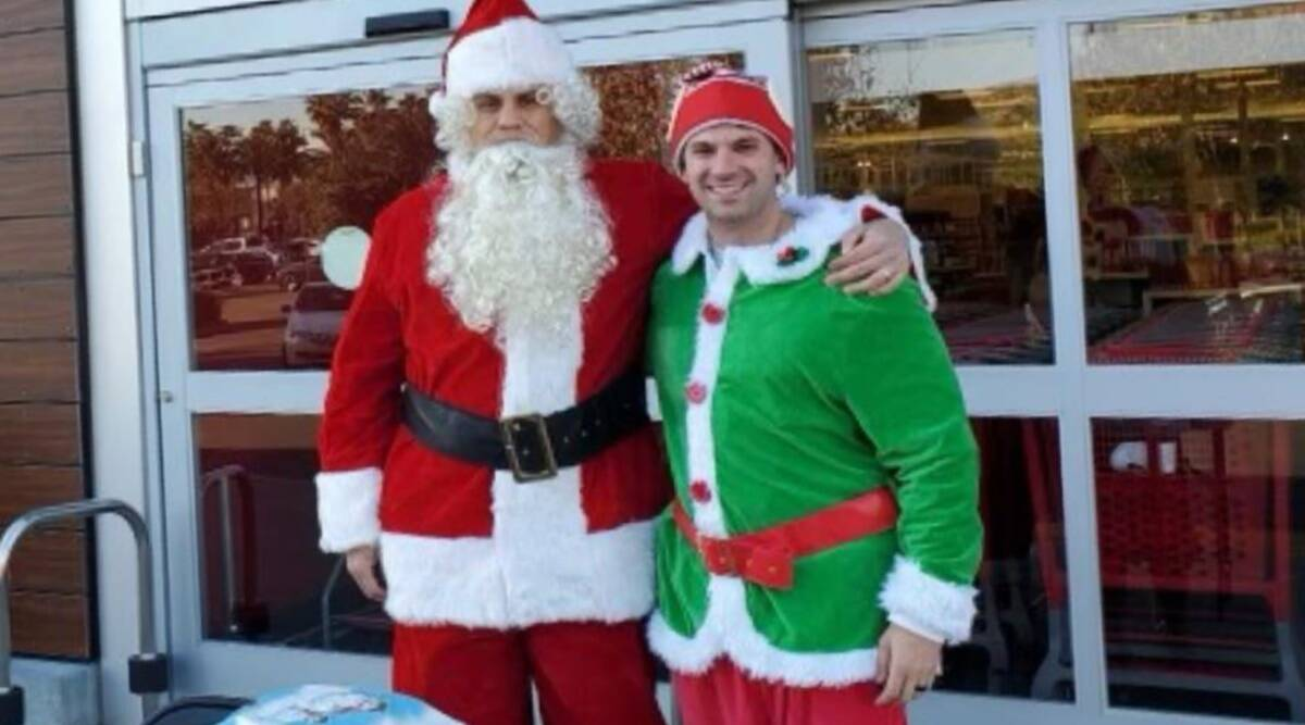 Undercover cops dressed as Santa Claus and elf, car thieves, California, cops dressed as Santa Claus and elf, Santa intervention, Trending news, Indian Express news.