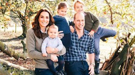 Prince William and Kate Middleton, Duke and Duchess of Cambridge, royal Christmas 2020 card leaked, indian express news