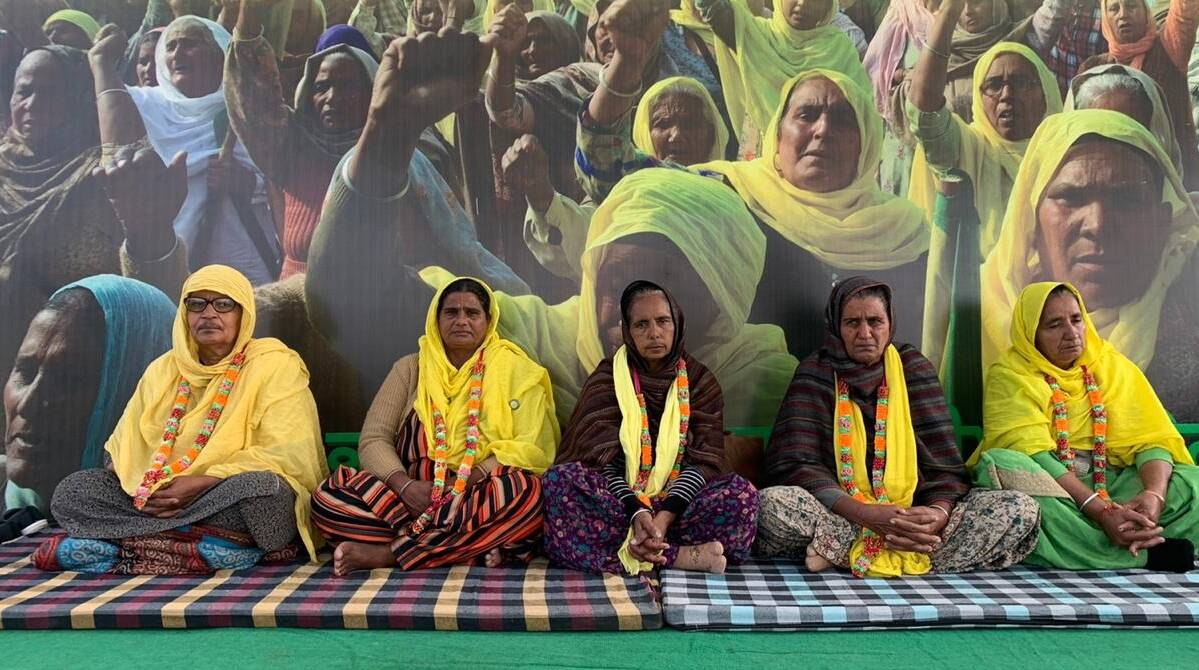 farmers protests, women go on hunger strike against farm laws, tikri border protests, farm laws 2020, ludhiana city news, indian express