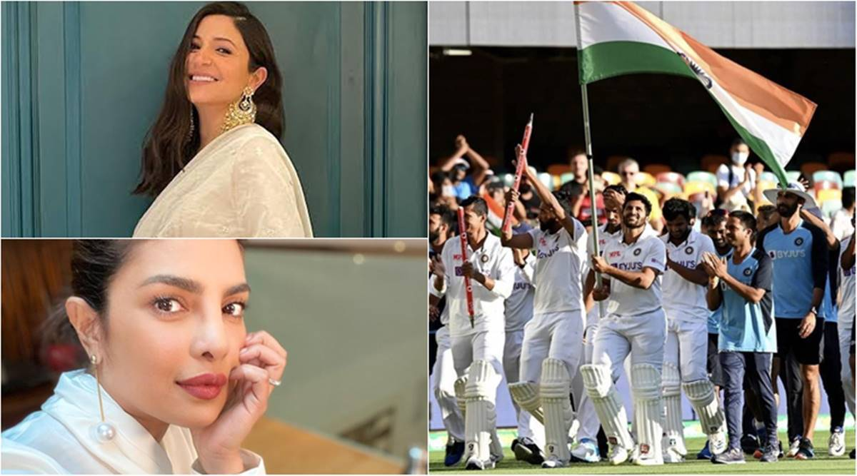 india vs australia win anushka sharma priyanka chopra