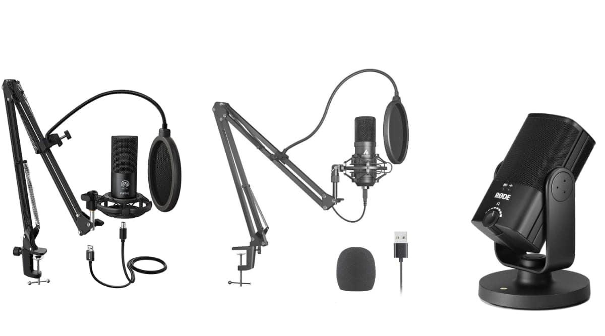 best USB mics, USB vs XLR microphones, budget studio mics, Fifine T669 USB Microphone features, Fifine T669 price, Maono AU-A04 features, Maono AU-A04 price, Rode NT-USB Mini price,