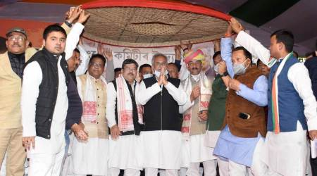 Assam polls, Congress Assam, Congress announces grand alliance in Assam, Assam grand alliance, assam elections, assam news, India news, Indiane xpress