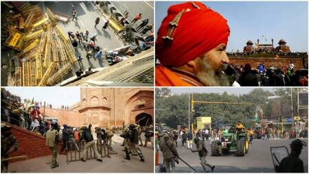 farmers protest top photos, farmers protest top photos photos, delhi red fort photos, delhi red fort violence pics, delhi top photos farmers, farmers rally photos, farmers protest violence red fort, delhi news, delhi photos, top photos of the day, farmers rally photos