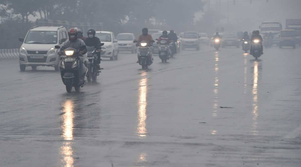 Delhi rain, Delhi temperatures, Delh weather, Delhi cold, Delhi news, Indian express news