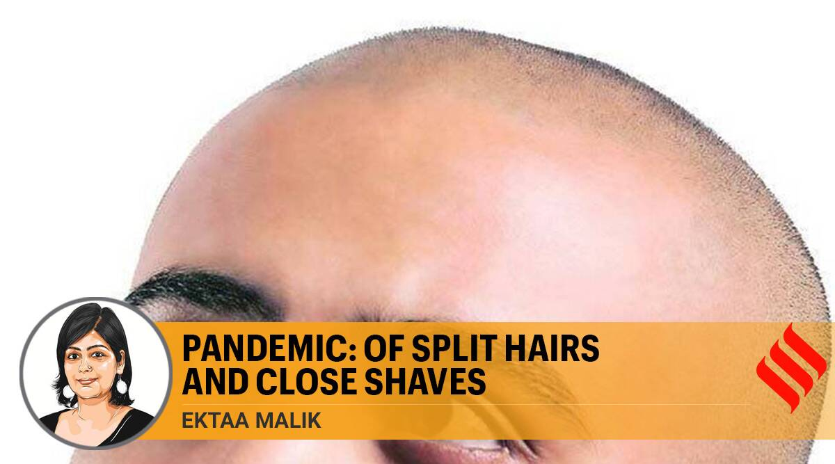 hair loss, split hair, health issues, head shaves, covid pandemic, women head shaves, Men head shaves, indian express opinion