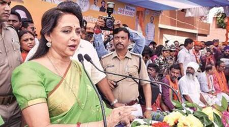 farmers protest, Hema Malini Farmers Protest, Punjab farmers protest, farmers invite hema malini, Farm Laws, Indian Express News, Indian Express,