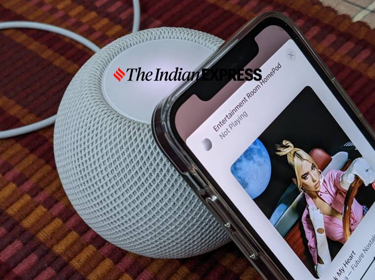 HomePod mini, HomePod Handoff feature, How to use Handoff with HomePod mini, Handoff homepod 14.4 software, what is handoff music transfer