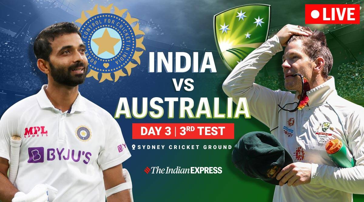 India vs Australia 3rd Test Day 3 Live Cricket Score