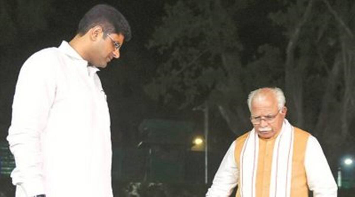 After meeting Shah in Delhi, Khattar, Dushyant reiterate: 'Discussed law and order, alliance govt safe'