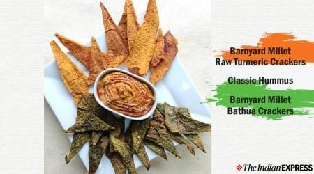 bathua recipe, hummus recipe, crackers recipe, millets, shalini rajani crazy kadchi, republic day recipes