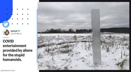 Monolith, Monolith in Wisconsin, Wisconsin monolith origin, Wisconsin hiking rail monolith, latest monolith, Monolith updates, Monoliths in the US, Monolith disappearance, Monolith mystery, Silver monolith, Aluminium foil monolith, Mystery monoliths, Trending news, Indian Express news.