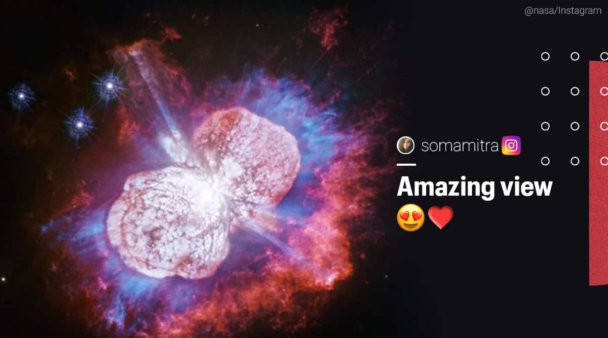 NASA, Hubble telescope, slow motion fireworks, Eta Carinae, Star fireworks, galaxy fireworks, space fireworks, 150 years fireworks, Trending news, Indian Express news