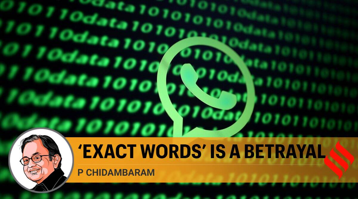 'Exact words' is a betrayal
