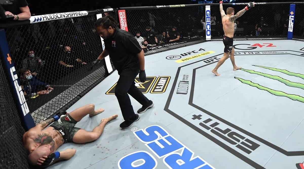 UFC 257: Dustin Poirier knocks out Conor McGregor in 2nd round, Khabib  reacts | Sports News,The Indian Express