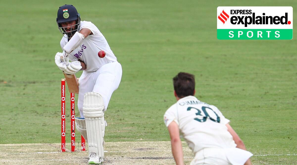 Cheteshwar Pujara, IND vs AUS, AUS vs IND, Brisbane Test match, India vs Australia live score, Indian Express