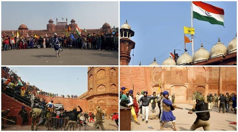 farmers protest, republic day violence, red fort farmers violence