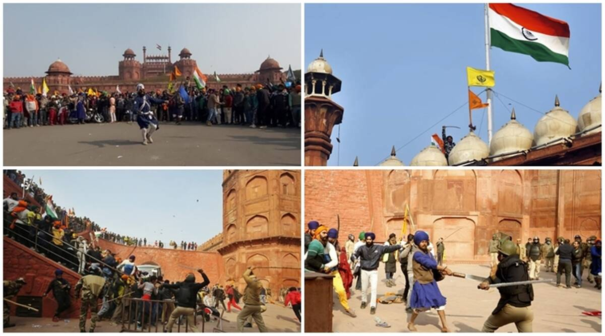 Farmers protest photos: What it looked like at Delhi's Red Fort today   India News,The Indian Express