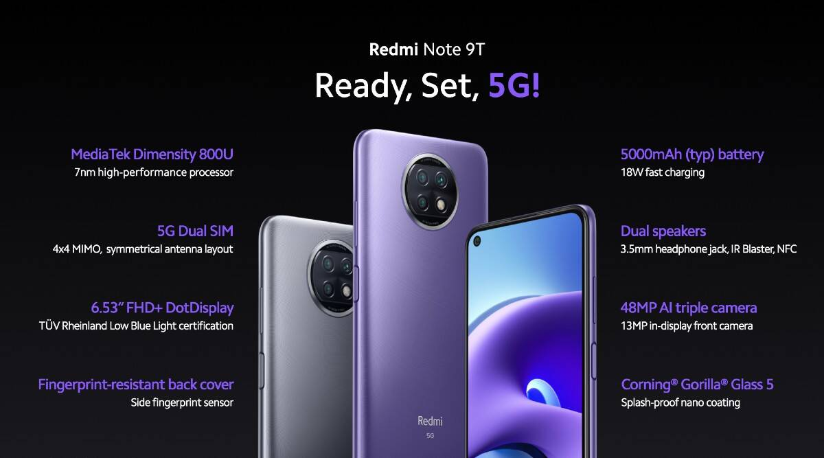 Redmi Note 9T 5G, Redmi 9T, and Mi Smart Clock launched globally; India  launch details and more