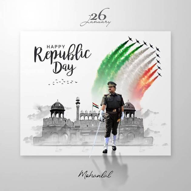 mohanlal on republic day