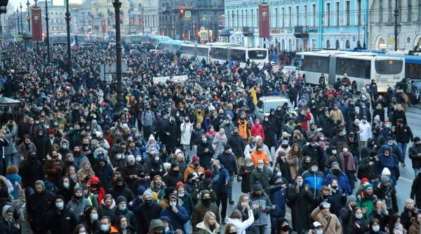 Russia, Russia protests, Alexei Navalny, Alexei Navalny protests, Russia news, Indian Express