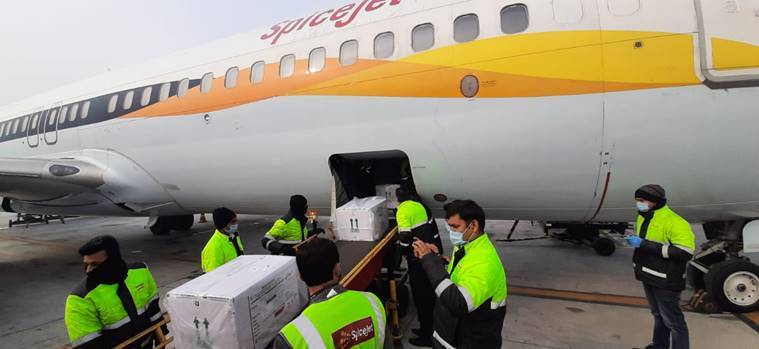 Covid vaccine flights take off: Domestic carriers start flying Covishield doses to cities across the country