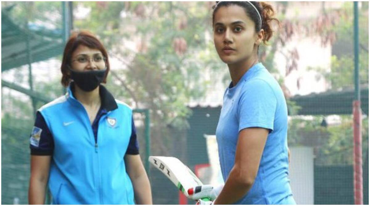 Taapsee Pannu begins training for the Mithali Raj biopic Shabaash Mithu |  Entertainment News,The Indian Express