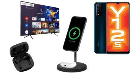 Vivo Y12s, vivo phone, Belkin wireless earbuds, Belkin Soundform Freedom TWS Earbuds, Belkin Boost Charge Pro 2-in-1 Wireless Charger Stand, belkin wireless stand, itel Vision 1 Pro, Thomson Path Android TVs, Mivi Collar 2, wireless earphones, wireless earbuds, Thomson tv, Android TV