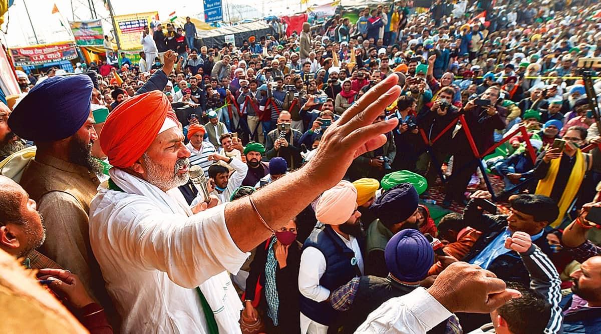 Farmers protest, Rakesh Tikait, Farmers tractor rally, Farm law, Muzaffarnagar news, UP news, Indian express news