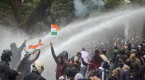 Tripura: Police lathicharge, use water cannons, tear gas at terminated teachers in Agartala, over 40 injured