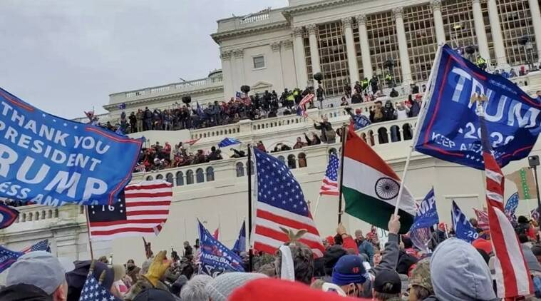 'Took Indian flag because of patriotic fervour': Kerala native who carried Tricolour to US Capitol