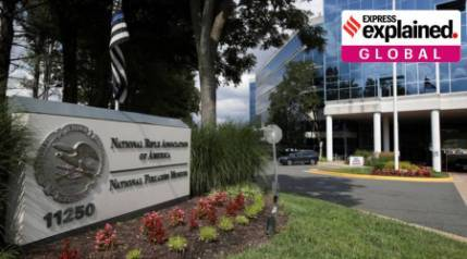 Why has the US National Rifle Association filed for bankruptcy?