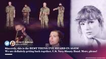 US Navy Band's Sea shanty parody of a Taylor Swift song is a hit on social media