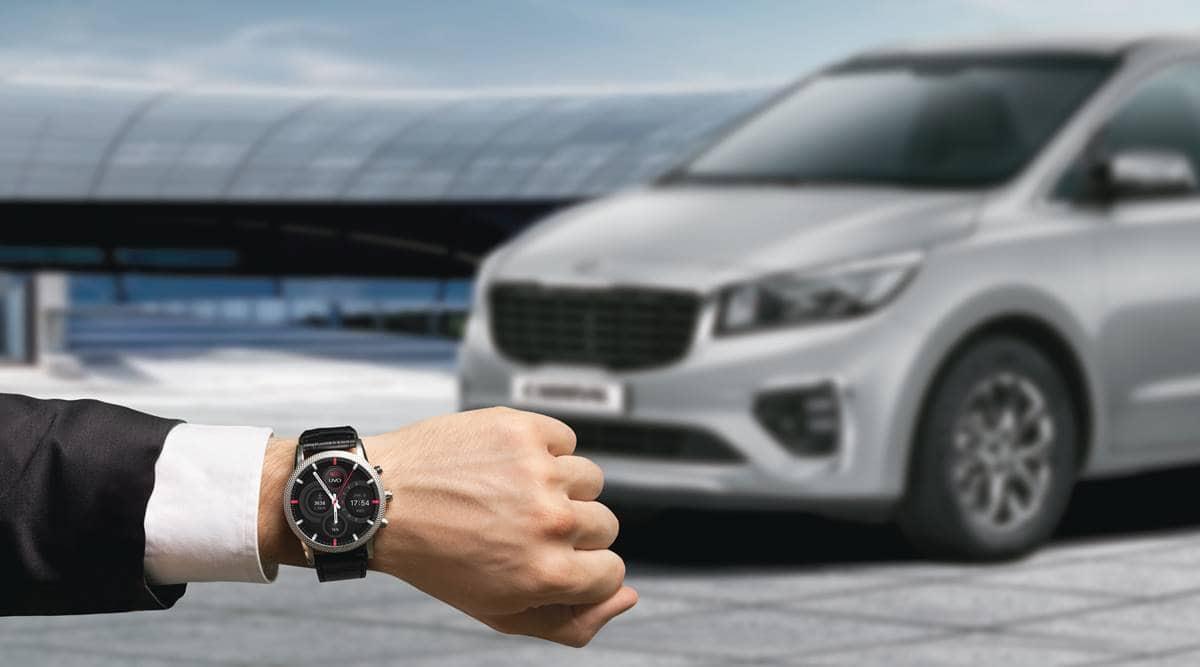kia motors, kia motors uvo connect, uvo connect smartwatch, kia motors Tae Jin Park, kia motors new features, kia motors new innovations