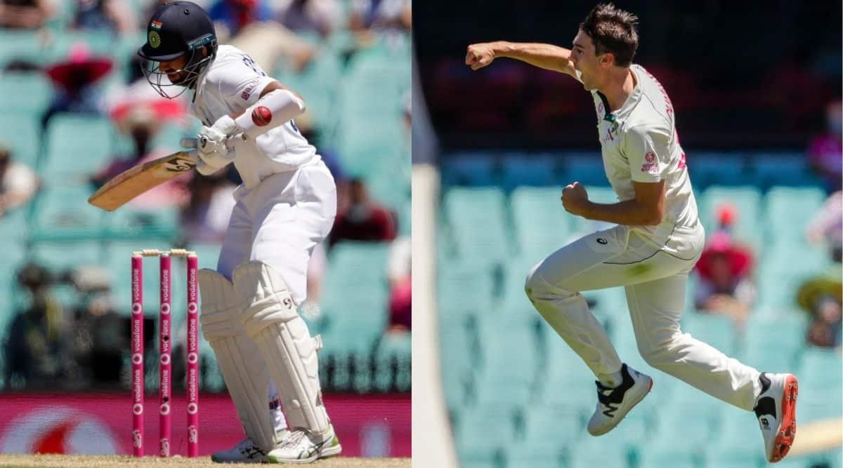 Pujara Cummins, India vs Australia