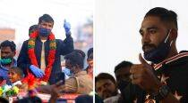 India's heroes return to a rousing welcome from families, friends and fans