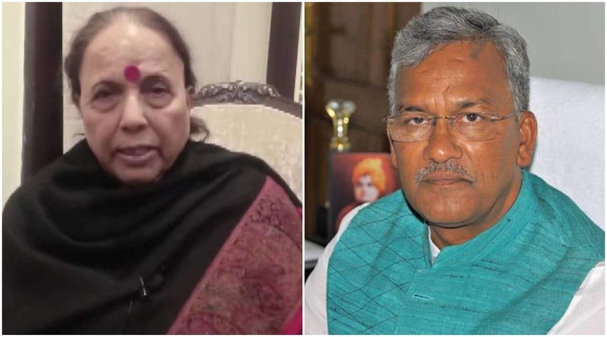 Uttarakhand BJP chief remark, Trivendra Singh Rawat, Uttarakhand BJP chief sexist remark, Indira Hridayesh, Uttarakhand LOP, India news, Indian express
