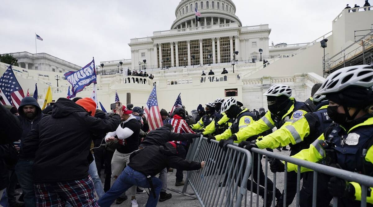 US capitol violence trump supporters