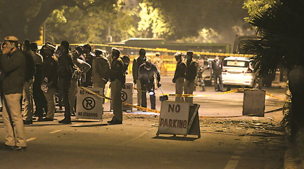 Minor blast near Israel Embassy in Delhi, note on spot suggests an Iranian  'link' | Cities News,The Indian Express