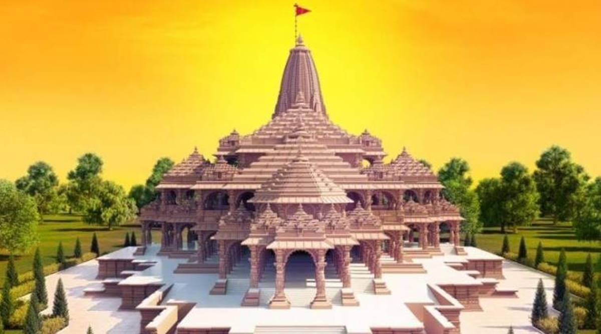 Ram temple, Ram temple construction, Ram temple foundation, Ayodhya, ram temple news, indian express news