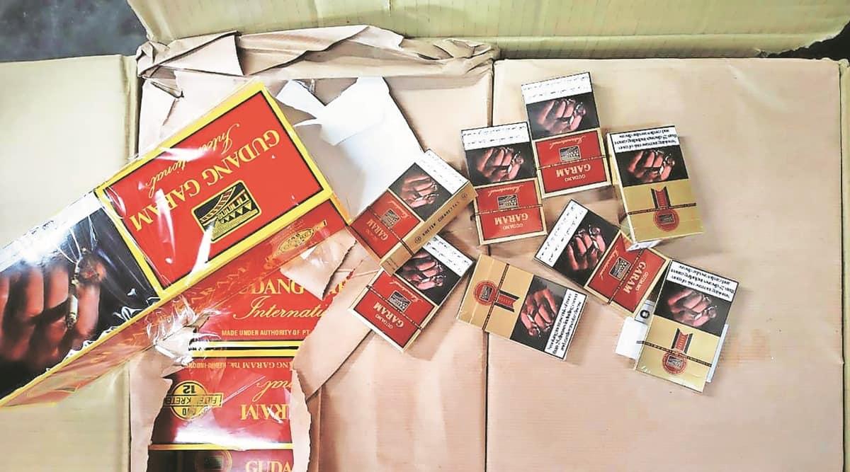 Foreign cigarettes, Foreign cigarettes seized, Nhava Sheva port, Navi Mumbai Port, Mumbai news, indian express news