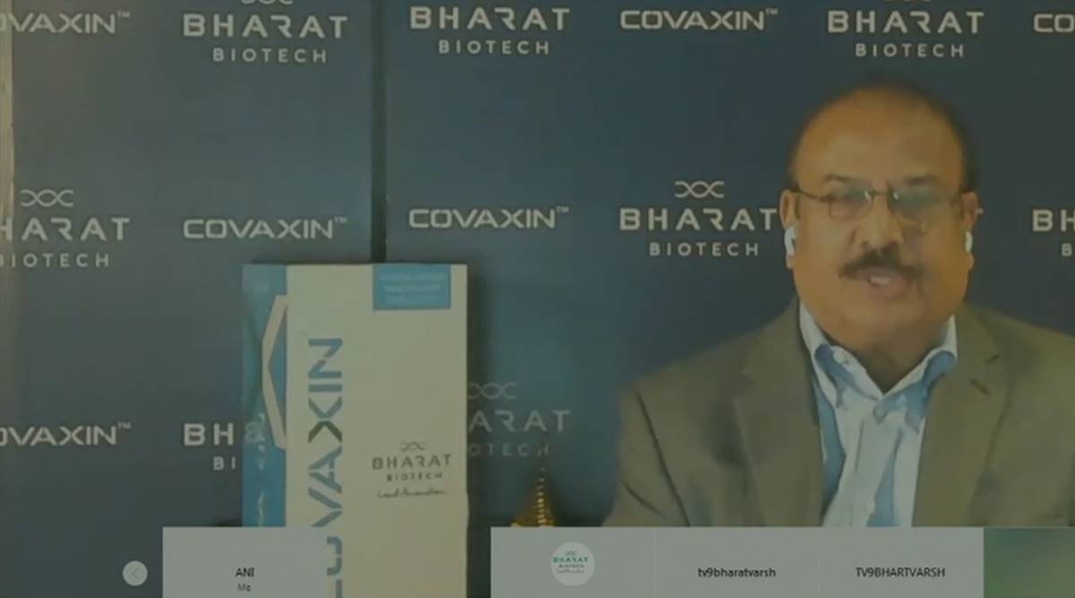 'Covaxin is 200% safe, don't deserve backlash': Bharat Biotech MD on questions over efficacy - The Indian Express