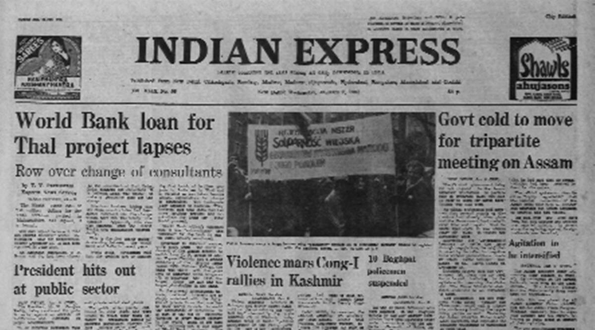 Kashmir Congress, Kashmir, National conference, Zail Singh, forty years ago Indian Express, Indian Express forty years ago, Indian Express Editorial