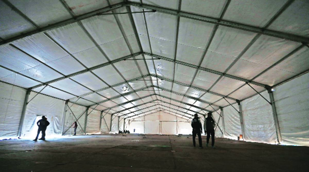 For farmers protesting at Tikri, a makeshift shelter with 800 beds, washrooms