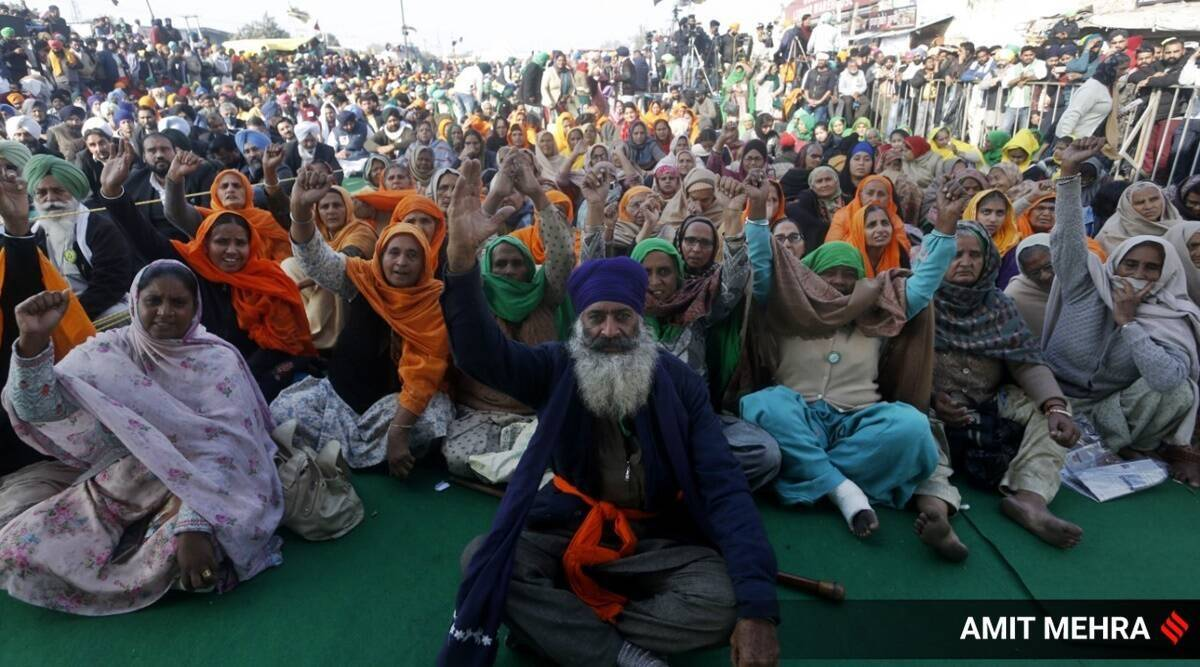 Farmer protests sites, Farm laws, farmers protests, Ghazipur border, Singhu border, Youth at protest sites, India news, Indian express