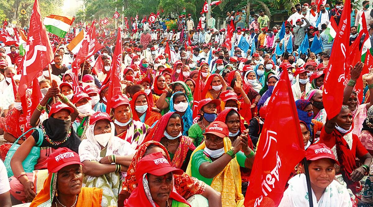 Small, marginal tribal farmers and labourers from state gather — 'Missing protest was not an option'