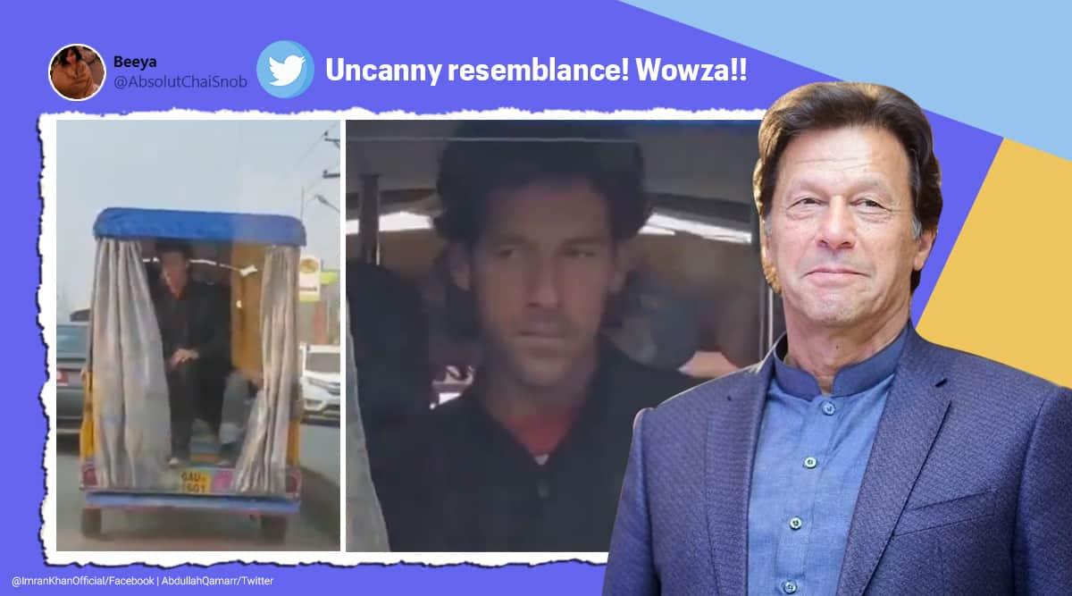 imran khan, pakistan, imran khan lookalike, pak pm lookalike, pak crickter imran khan doppleganger, viral news, indian express,