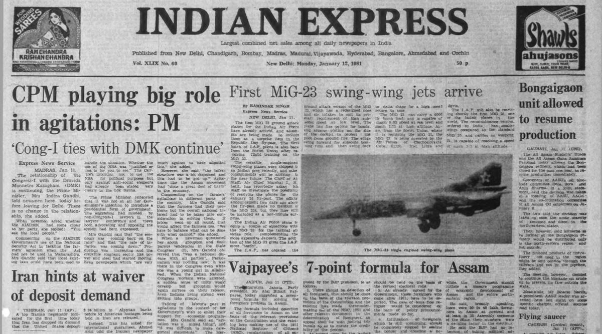 Forty Years Ago, January 12, 1981: Indira on NSA